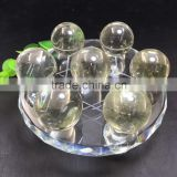 Natural Crystal Sphere Citrine Chakra Stone Set Crystal Feng Shui Ball