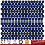 IMARK Glazed Penny Round Porcelain Mosaic Tile For Hotel/Bar/Swimming Pool Wall Decoration