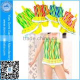 Domi 2014 swimsuit kids one piece colorful wave strip cute young girl bikini swimwear swimsuit kids