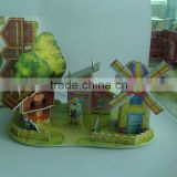 hot sale product for 2015 kids cute diy paper house