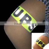 Wholesale Reflective Logo Printed Elastic Armband With Velcro