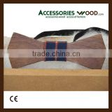 2015 hot selling wooden Bow ties customized wooden bow tie with gift box