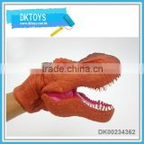 Eco-friendly soft pvc hand puppet dinosaur type