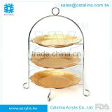 Acrylic Serving Stand Hotel and Restaurant Accessory Wedding Decoration Food Serving Tray Cake Stand