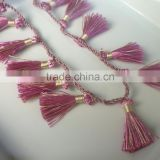 Moroccan art silk tassel necklace braided silk cord necklace silk cord necklace with clasp