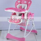 Seedling new Multi-Function 3 in 1 Plastic Baby High Feeding Chair With Cover baby high chair