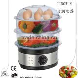 stainless steel 3 tier electric food steamer