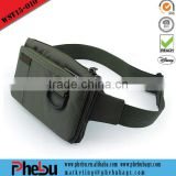 RFID Blocking Security Travel Passport Money Belt bag(WST15-010)