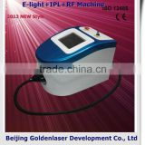 Remove Diseased Telangiectasis 2013 New Design E-light+IPL+RF Machine Tattooing Beauty Machine Portable Facial Tanning Equipment Fine Lines Removal