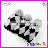 C570 Knit Headcover Set Vintage Pom Pom Golf Sock Covers NEW Golf Knit Headcovers