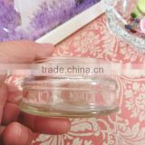 80ml wide mouth clear glass material cosmetic skin care cream empty jar with aluminum lid
