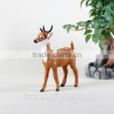 christmas mini figurines taxidermy deer unstuffed animals real looking