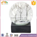 Factory Custom made best home decoration snow globe gift polyresin crystal snow globe water ball