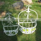 Nicely 2pcs/set Vintage Classical Antique White Wrought Irons Antirust Metal Fruit Basket