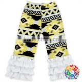 Wholesale Ruffle Icing Legging Kids Fashion Pants Design Infant Toddler Girl Floral Icing Pants