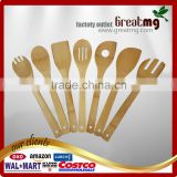 Totally Bamboo 7-Piece Utensil Set, Includes 100% Bamboo Turner, Slotted Spatula, Spoon, Single Hole Mixing Spoon