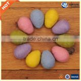 2017 new amazon best gift felt colored Easter eggs for decoration