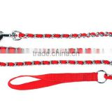 Nylon Wrist Loop Dog Chain With Handle , wholesale strong durable fashion dog leash choke chains with braided