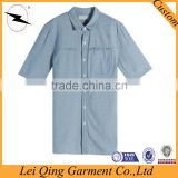 Newest men's denim shirt British style factory price,men's fashion shirt casual/dress shirts