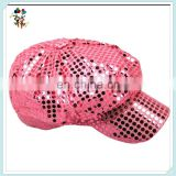 Pink Sequined Newsboy Cabbie Party Disco 70s Costume Hats HPC-0218