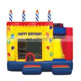 5 in 1 Bouncy castle inflatable happy Birthday Cake Combo, moonwalk combo slide for kids