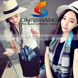 2016 spring autumn cheap fashion print small silk scarf new style women neck tie