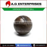 Vintage 100% Original Grade Leather Soccer Ball for Sale