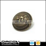 Custom Fashion classical emboss eagle pattern logo metal sewing buttons for coat decorative uniform accessories