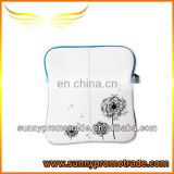 white printing flower Neoprene pad bag for laptop with your Logo
