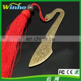 Winho vintage Chinese weapon bookmark with red tassel