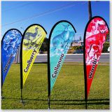 Wholesale Teardrop Flag ,Outdoor Beach Flag with Flagpole