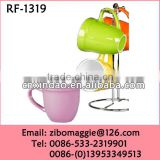 Belly Shape Personalized Stoneware Party Cup with Assorted Color for Promotional Gift