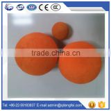 Putzmeister concrete pump spare parts CE&ISO approved hard sponge 80mm concrete pipe cleaning ball