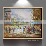 Modern art home decoration Paris Street art canvas oil paintings Wall Pictures for living room