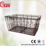 Set of 3 hand woven meta mesh storage basket for fruit and vegetables,potatoes storage basket