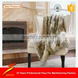STABILE Top quality luxury fox faux fur throw blanket