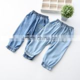 Girls Jeans 2016 Spring New Style Haroun Pants Kitten Embroider Closed Foot Trousers Kids Pants