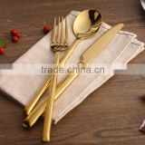 Vintage High-grade Electroplated Gold Stainless Steel Flatware Sets