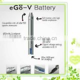 Good beautiful LCD passthrough battery various voltage 3v-6v cable e cigarette battery ego v