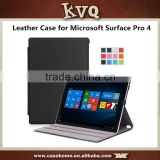 New hot sale PU Leather Case Cover for Microsoft Surface Pro 4 12.3'' Tablet stand case