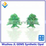wholesales beads green synthetic opal cedar tree, christmas tree for Festival