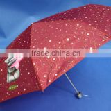 21 inch X 8 ribs Hight Quality 3-section mini umbrella
