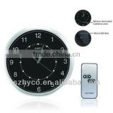 HD 720p Wall Clock Hidden Camera DVR with Motion Detection & 5-Hour Backup Battery