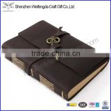 New design promotion pretty 2016 custom diary vintage real leather