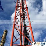Steel telecommunications lattice pole tower
