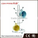 Chrome Plating Iron Wire 6 coffee mugs tree rack