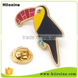 Hot Sale Gold Plated Animal Bird Shaped Custom Pin Badge