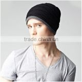2015 hot sale Men's Solid Color Unisex Knit Beanies                                                                         Quality Choice