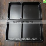 Custom meal tray 2/4 compartments PS plastic food trays