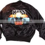 bomber satin varsity jacket,varisy satin baseball jacket,full sleeves bomber custom jacket